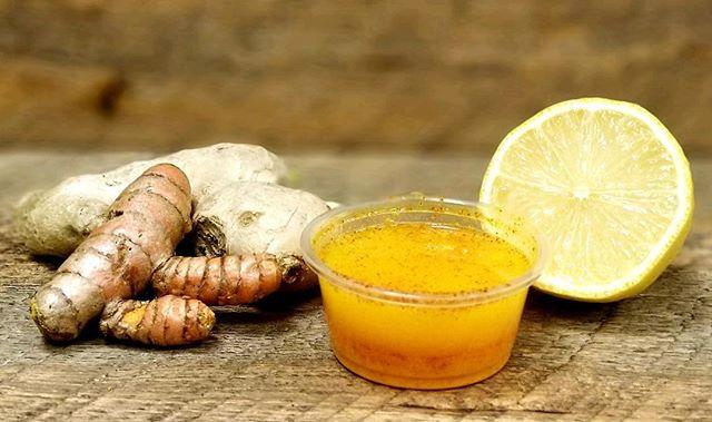 Ginger+Tumeric+Lemon+ Cayenne Pepper = ENERGY BOOST ⚡️