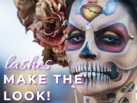 Let COLORED Lashes make your makeup look this Halloween!