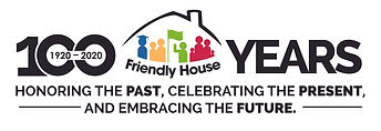 Friendly House logo 100 years horizontal
