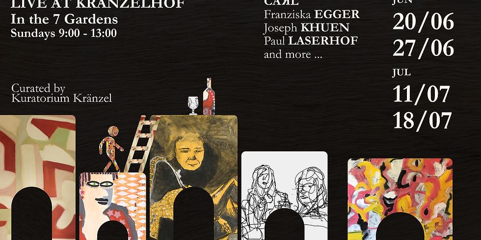 OPEN AIR ARTISTS LIVE AT KRÄNZELHOF IN THE 7 GARDEN