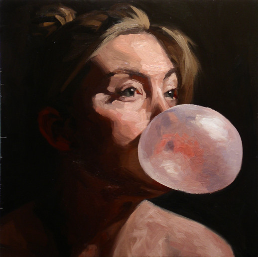 Hope blowing a bubble