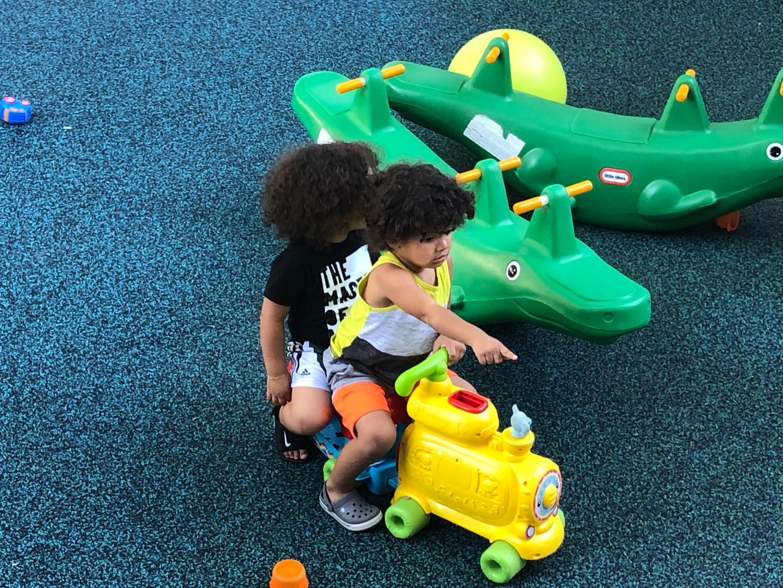 fun on the new playground