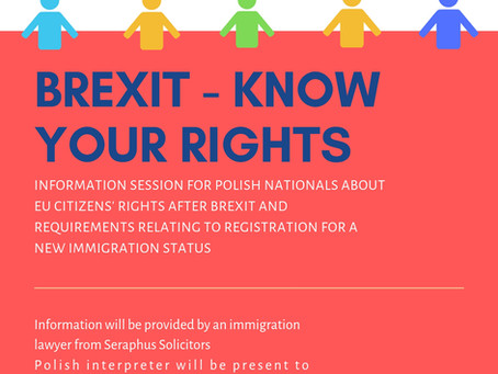 Brexit information session for the Polish community in Cheshire