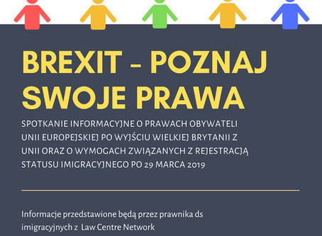Brexit - know your rights. Free information session for the Polish community in Cheshire