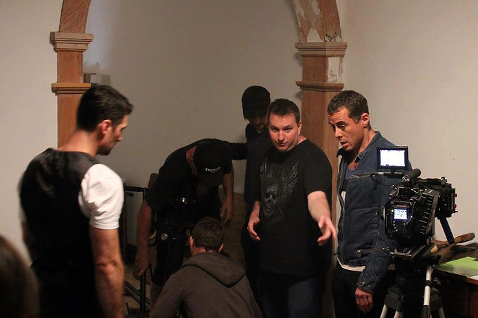 Julian Roberts directing Marcus Graham and William Emmons