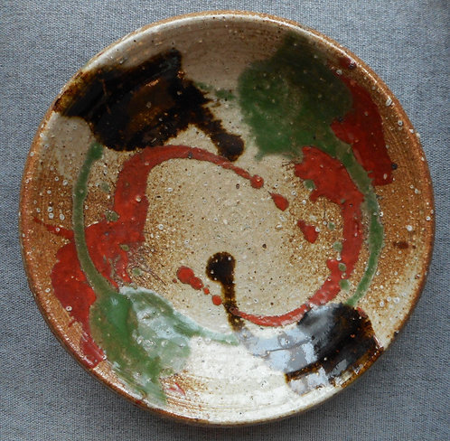 Stoneware bowl by Kawai Kanjiro (1890-1966)