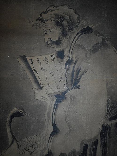Zen painting of hermit
