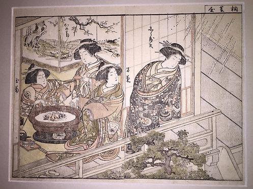 Print by Shunsho (1726-1792) and Shigemasa (1739-1820)