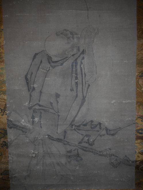 Zen painting of Hotei