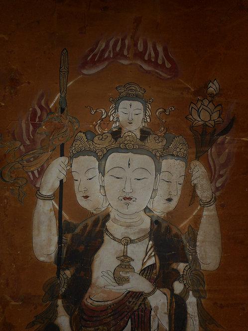 Painting of the Buddhist deity Bonten