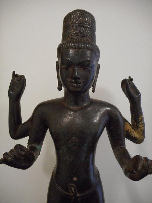 Cambodian Khmer bronze figure