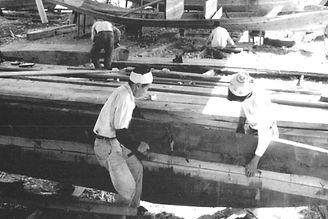 優和木装株式会社 オーダー家具 木造船建造の様子