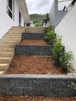 Charcoal versa retaining wall