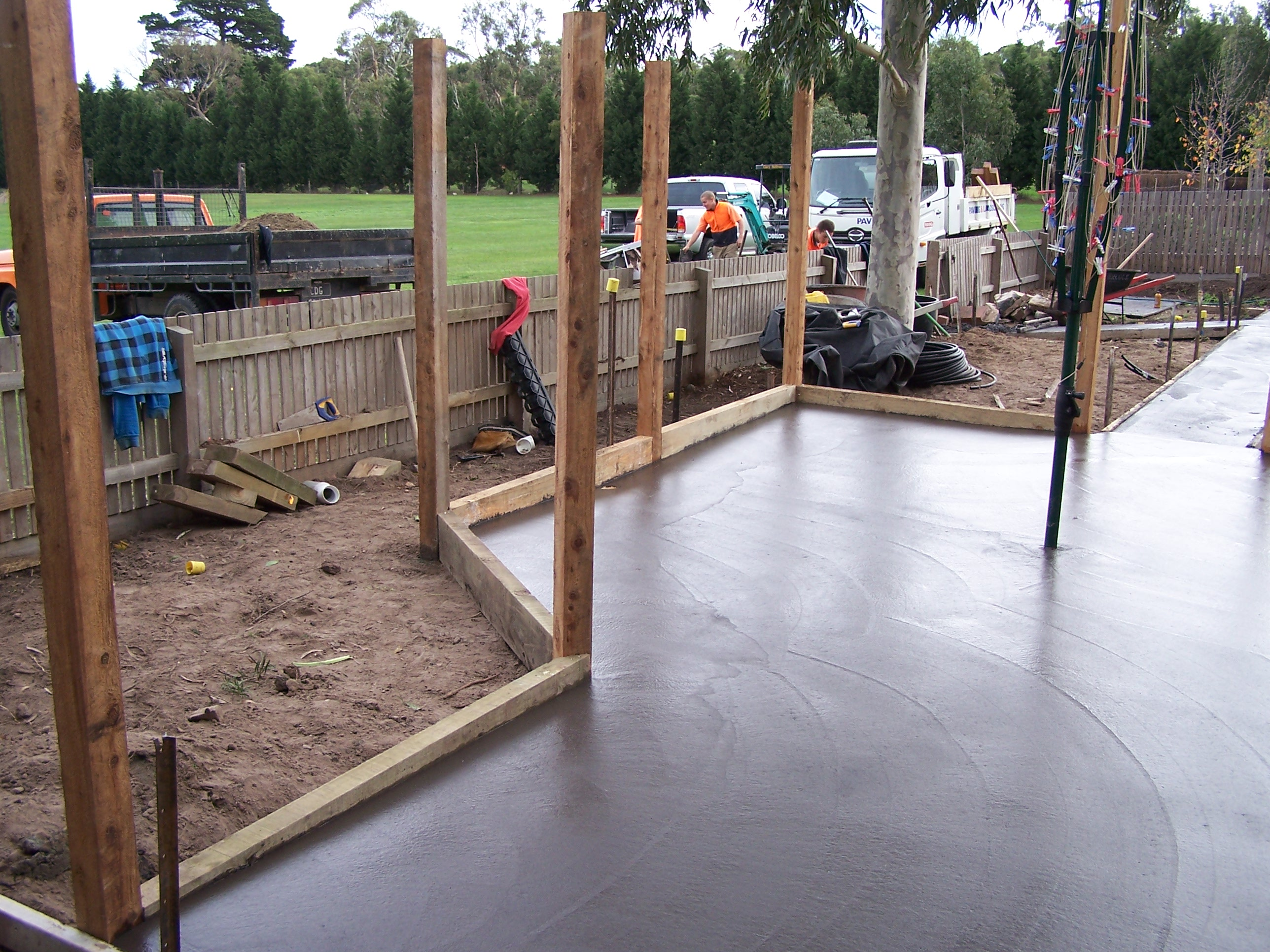 Concreting and garden construction