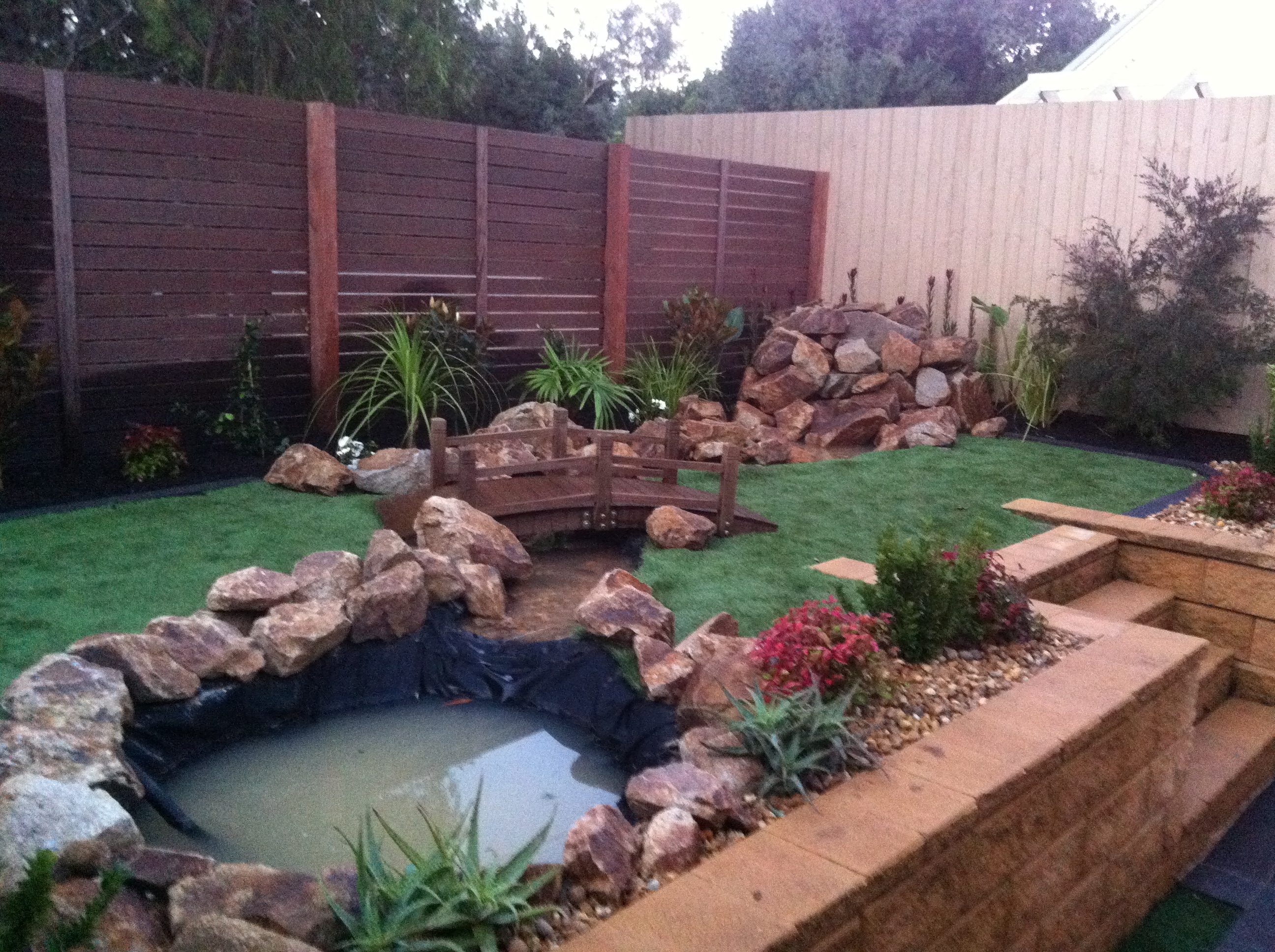 garden renovations and pond