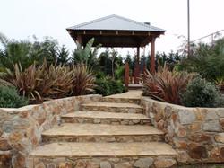 pergola, steps and gardening