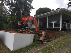 excavator preparing job