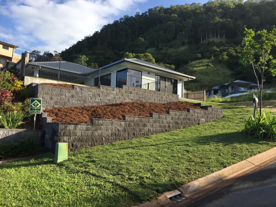 retaining wall after photo