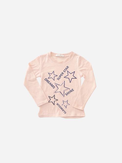 T-Shirt Reciclato Pet Mc Rosa Est. Stars