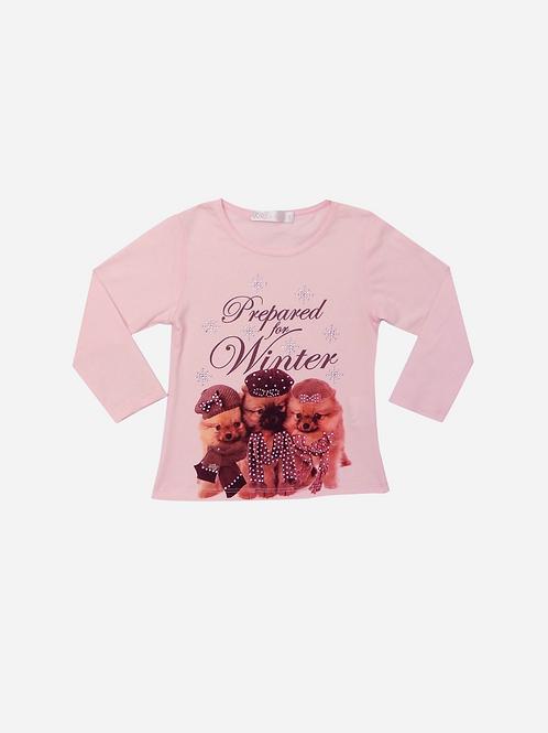 T-Shirt Coton M/l  Puppies Winter