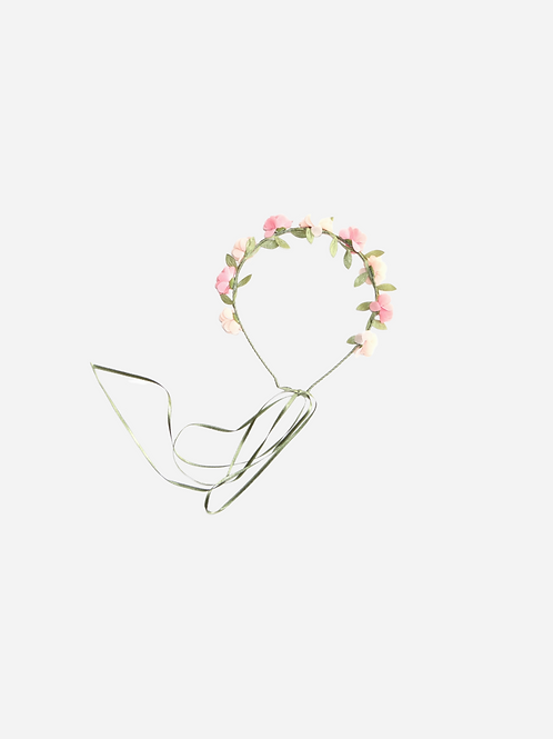 Tiara Mini Flor Summer Mousseline Toque De Seda