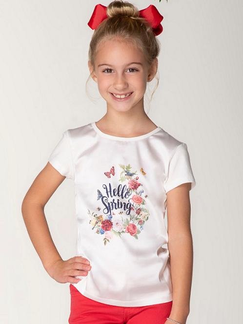 Blusa Frente de Seda Hello Spring M/C