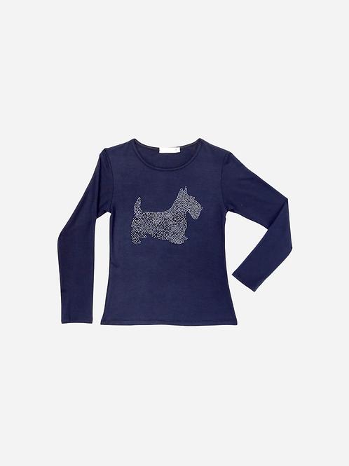 T-Shirt Strass Schnauzer Dog M/l