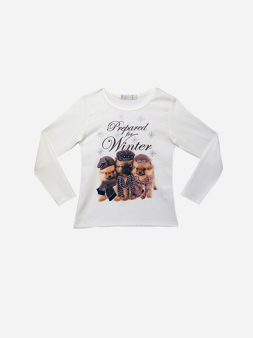 T-Shirt Seda Puppies Winter ML