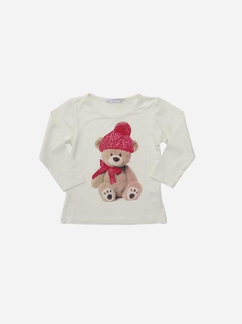 Blusa Pele De Anjo Urso Boina E Cachecol