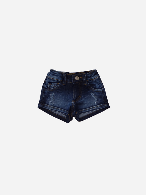 Shorts New Jeans Stretch Escuro