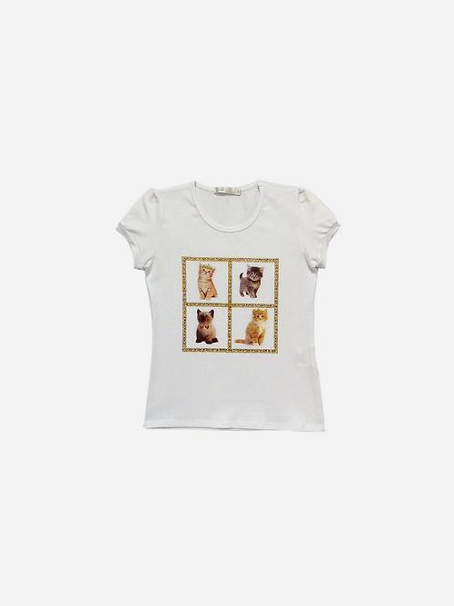 T-Shirt Vis-Up 4 Cats Strass