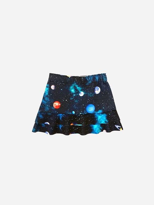 Saia Mauí Dois Babados Est. Exclusiva Galaxy