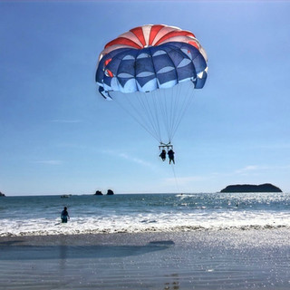 Parasailing is amazing.