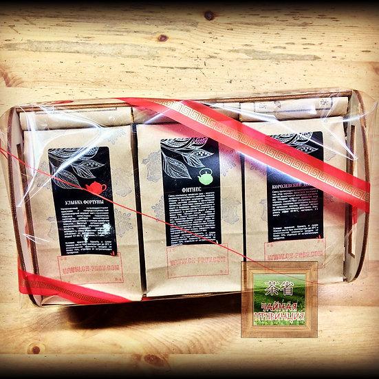 Подарок чай в деревянной упаковке