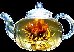 связанны чай раскрывается - распускается как цветок
