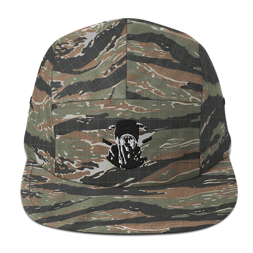 Graphwize Crystal Ball Black & White Embroidered Five Panel Cap