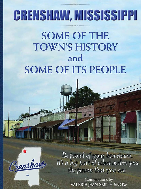 """Set of 2 copies Crenshaw, MS Some of the Town's History and Some of Its People"""""""