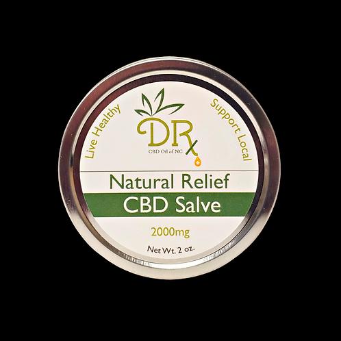 DRx CBD Oil Natural Salve 2000 mg 2 oz