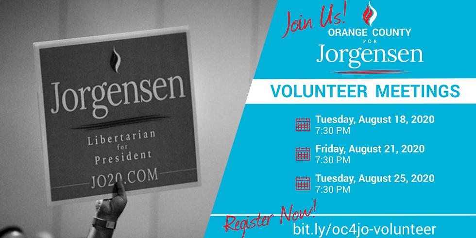 OC for Jorgensen - Volunteer Meetings