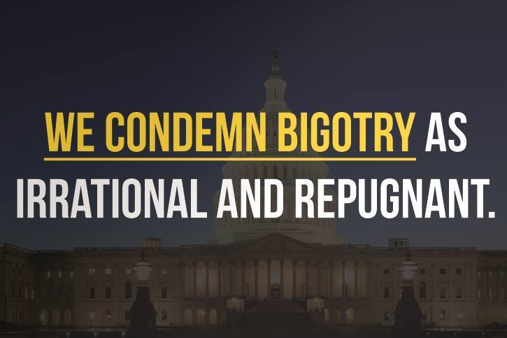 Libertarians condemn bigotry as irrational and repugnant