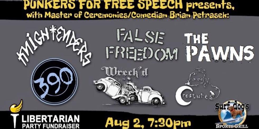 Punkers for Free Speech Fundraiser