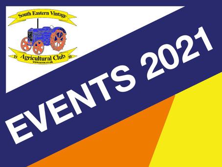 Events Season 2021 re COVID-19