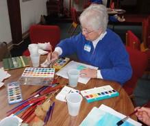 Lent Retreat Art Activity