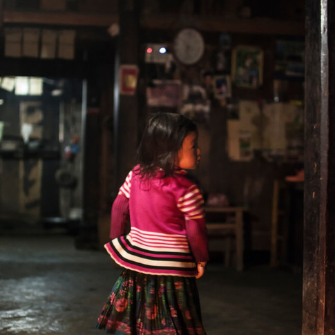 Young Vietnamese girl in her traditional house