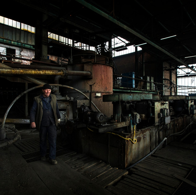 Decaying factory in Kosovo