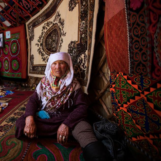 Inside a Kazakh Ger