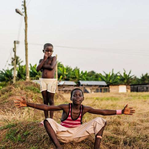 Kids in Tinkong, Ghana