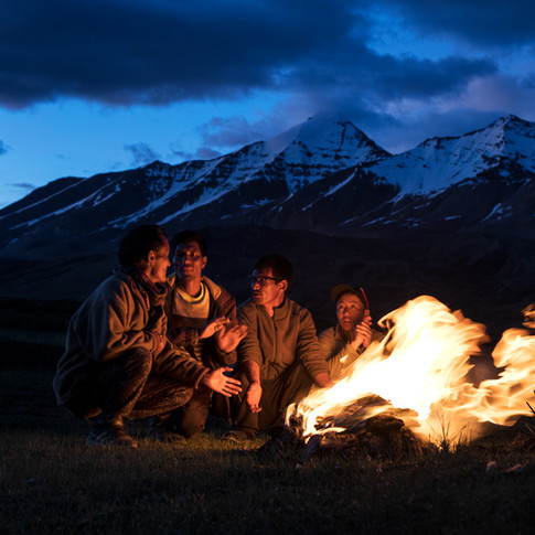 Campfire in the Himalayas