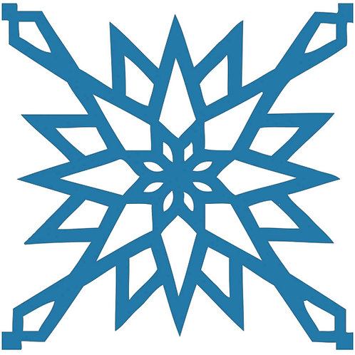 Matt Cyan Arabic Motif Pattern Tiles
