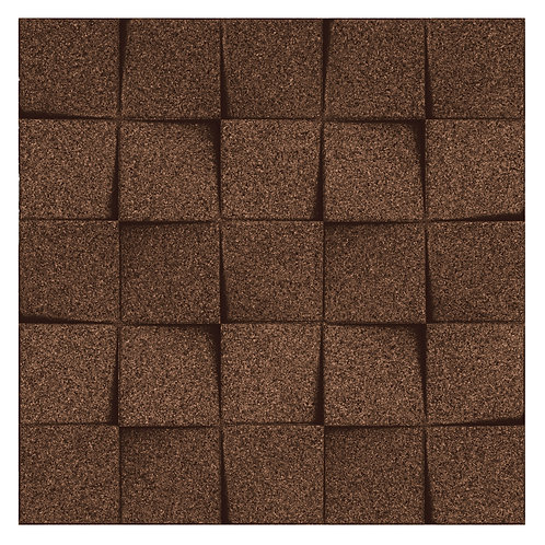 Aubergine (Brown) Mini-chock 3D Tiles